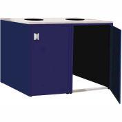 "Double Recycle Cabinet - 60""W x 27-3/4""D x 39-15/32""H (St. Louis Blue)"