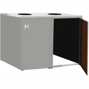 """Double Recycle Cabinet - 60""""W x 27-3/4""""D x 39-15/32""""H (Sebring Gray)"""
