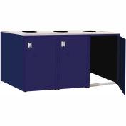 """Triple Recycle Cabinet - 90""""W x 27-3/4""""D x 39-15/32""""H (St. Louis Blue)"""