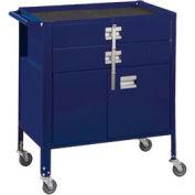 "Deluxe Technician Cart-Portable Cart, 29-1/4""W x 18-1/4""D x 34""H-St.Louis Blue"