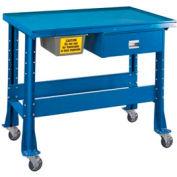 "Standard Tear-Down/Fluid Containment Bench-Portable, 48""W x 32""D-Monaco Blue"