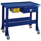 "Shure Portable Standard Teardown or Fluid Containment Bench, 48""W x 32""D x 29-40""H, St. Louis Blue"