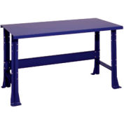 "Shureshop® bench-stationary, painted steel top, 72"" x 29""-St.Louis Blue"