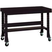 "Shureshop® Mobile Automotive Workbench - Steel - 72""W x 29""D - Gloss Black"