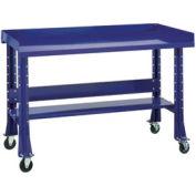 "Shureshop® Mobile Automotive Workbench - Steel - 72""W x 29""D - St. Louis Blue"