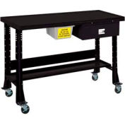 "Oversized Tear-Down/Fluid Containment Bench-Portable, 60""W x 32""D-Gloss Black"