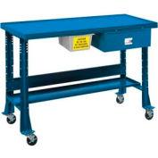 "Oversized Tear-Down/Fluid Containment Bench-Portable, 60""W x 32""D-Monaco Blue"