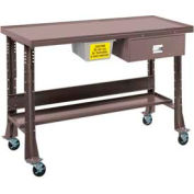 "Oversized Tear-Down/Fluid Containment Bench-Portable, 60""W x 32""D-Pewter Grey"