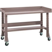 """Shureshop® Mobile Automotive Workbench - Stainless Steel - 60""""W x 29""""D - Pewter Grey"""
