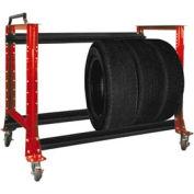 "Tire Cart 54-1/2""W x 25-5/8""D x 41""H-Carmine Red"