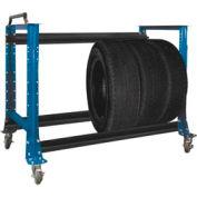 """Tire Cart 54-1/2""""W x 25-5/8""""D x 41""""H-Monaco Blue"""