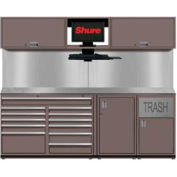 Shuretech STS-S4-8' Bench System-Pewter Grey