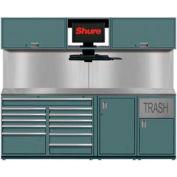 """Shuretech Workbench System w/ 9 Drawers, 96""""W x 29""""D x 80""""H, Gray"""