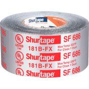 "Shurtape, Shurmastic Indoor/Outdoor Roll Mastic, Sf 686, Ul 181b-Fx, 3"" X 100ft, Silver - Pkg Qty 16"
