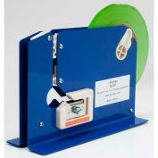 "Shurtape® Tabletop Bag Sealing Dispenser, 3/8"" Thick, Blue"