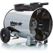 "Shop-Vac 1033100 Portable Air Circulator, 14"" Dia., 1/3 HP, 2000 CFM, 120V, 30Ft. Cord"