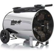 "Shop-Vac 1033200 Portable Air Circulator, 16"" Dia., 1/2 HP, 3000 CFM, 120V, 30Ft. Cord"
