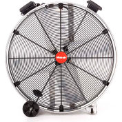 "Shop-Vac Industrial Drum Fan 1180000, 24"" Dia., 1/3 HP, Direct Drive, 6,500 CFM, Stainless Steel"