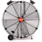 """Shop-Vac Industrial Drum Fan 1180100, 30"""" Dia., 1/2 HP, Direct Drive, 9,600 CFM, Stainless Steel"""