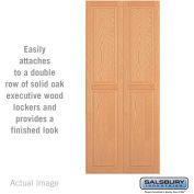 "Salsbury Double End Side Panel 11143 - for 18"" Deep Solid Oak Executive Wood Locker, Light Oak"