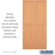 "Salsbury Double End Side Panel 11145 - for 21"" Door Deep Solid Oak Executive Wood Locker, Light Oak"