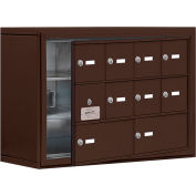 Cell Phone Locker with Access Panel 19138-10ZSK - Surface Mounted Keyed Locks, 8A & 2B Doors, Bronze