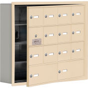 Cell Phone Locker with Access Panel 19145-14SRK - Recessed Mounted Keyed Lock 12A&2B Doors Sandstone