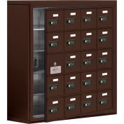 Cell Phone Locker with Access Panel 19158-20ZSC - Surface Mounted, Combo Locks, 20 A Doors, Bronze