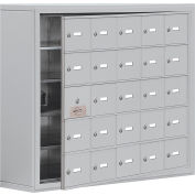 Cell Phone Locker with Access Panel 19158-25ASK - Surface Mounted, Keyed Locks, 25 A Doors, Aluminum