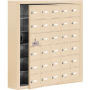 Cell Phone Locker with Access Panel 19165-30SSK - Surface Mounted Keyed Locks, 30 A Doors, Sandstone