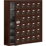 Cell Phone Locker with Access Panel 19165-30ZSC - Surface Mounted, Combo Locks, 30 A Doors, Bronze