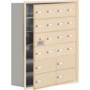 Cell Phone Locker with Access Panel 19168-20SRK - Recessed Mounted Keyed Lock 16A&4B Doors Sandstone