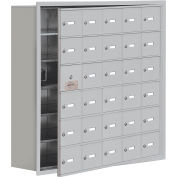 Cell Phone Locker with Access Panel 19168-30ARK - Recessed Mounted Keyed Locks, 30 A Doors, Aluminum