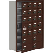 Cell Phone Locker with Access Panel 19178-24ZRC - Recessed Mounted Combo Locks 20A&4B Doors, Bronze