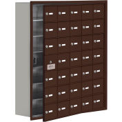 Cell Phone Locker with Access Panel 19178-35ZRK - Recessed Mounted, Keyed Locks, 35 A Doors, Bronze