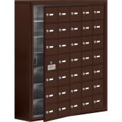 Cell Phone Locker with Access Panel 19178-35ZSK - Surface Mounted, Keyed Locks, 35 A Doors, Bronze