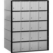 """Aluminum Mailbox 2220 - 23-1/2""""W x 15-1/2""""D x 30""""H, 20 Doors, Standard System"""