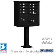Salsbury Cluster Box Unit, 8 A Size Doors, Type I, Black, USPS Access