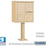 Salsbury Cluster Box Unit, 12 A Size Doors, Type II, Sandstone, USPS Access