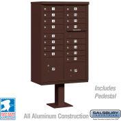 Salsbury Cluster Box Unit, 16 A Size Doors, Type III, Bronze, USPS Access