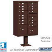 Cluster Box Unit, 16 A Size Doors, Type III, Bronze, USPS Access