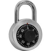 Salsbury Combination Padlock 33320 - for Designer Wood Locker Door Silver/Black