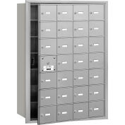 Salsbury 4B+ Horizontal Mailbox, 28 A Doors (27 usable), Front Loading, Aluminum, Private Access