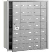 Salsbury 4B+ Horizontal Mailbox, 35 A Doors (34 usable), Front Loading, Aluminum, USPS Access