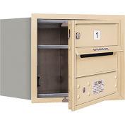 "Salsbury 4C Horizontal Mailbox, 13""H, Single Column, 1 MB1 Door, Front Load, Sand, Private"