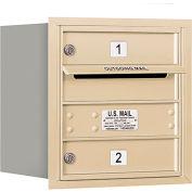 "Salsbury 4C Horizontal Mailbox, 16-1/2""H, Single Column, 2 MB1 Doors, Rear Load, Sand, Private"