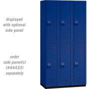"""Salsbury Heavy Duty Plastic Locker, Double Tier, 3 Wide, 12""""W x 18""""D x 36""""H, Blue"""
