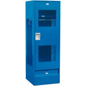 """Salsbury Gear Metal Locker 72024 - Ventilated Door 24""""W x 24""""D x 72""""H Blue Unassembled"""