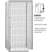 """Salsbury Bulk Storage Locker 8144-S - Starter Unit Single Tier 48""""W x 48""""D x 90""""H Gray"""