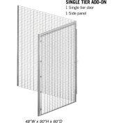 """Salsbury Bulk Storage Locker 8145-A - Add-On Unit Single Tier 48""""W x 60""""D x 90""""H Gray"""